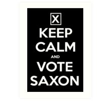 Vote Saxon  Art Print