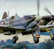Two Spitfires taking off at Duxford Sticker
