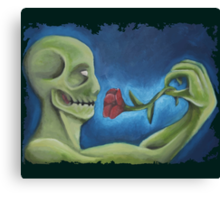 the zombie rose Canvas Print