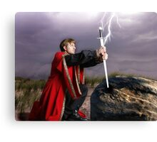 The sword and the stone Canvas Print