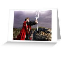 The sword and the stone Greeting Card