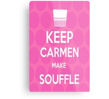 Keep Carmen make Souffle Metal Print