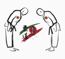 Judo Bowing Illustration by tshirtdesign
