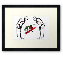 Judo Bowing Illustration Framed Print