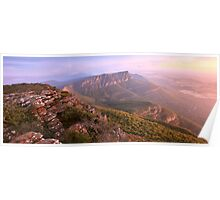 Redmans Bluff from Mt William, Grampians, Australia Poster