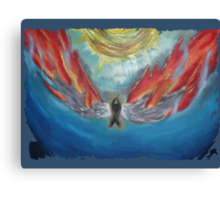 icarus-in-fire Canvas Print