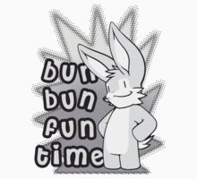 Bun Bun Fun Time! Monochrome by Shiuk