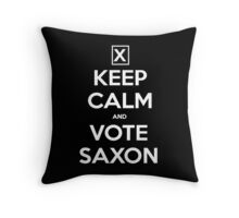 Vote Saxon  Throw Pillow