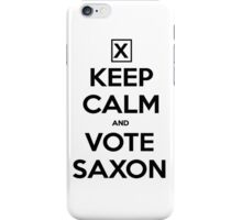 Vote Saxon - White iPhone Case/Skin
