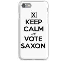 Vote Saxon - White iPhone Case/Skin
