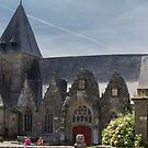 The Notre-Dame-de-la-Tronchaye, Rochefort-en-Terre, Brittany, France by Elaine Teague