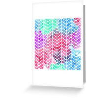 Bright Colorful Watercolor Split Chevron Greeting Card