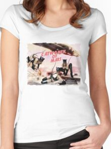 Catwomen of Mars  Women's Fitted Scoop T-Shirt