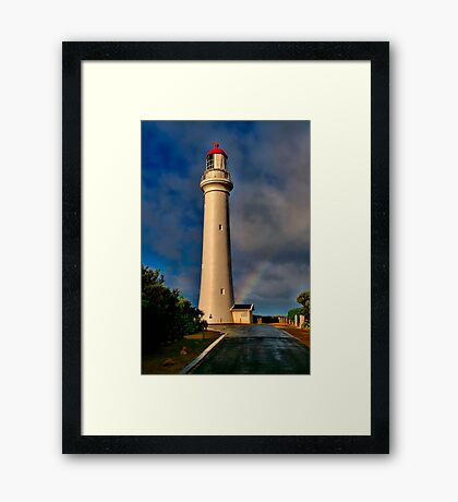 """Light At The End The Rainbow"" Framed Print"