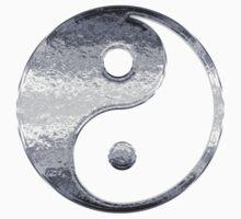 Faux Silver Grey Yin Yang Symbol 2 Kids Clothes