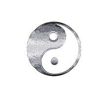 Faux Silver Grey Yin Yang Symbol 2 by TigerLynx