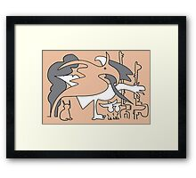 After Picasso - Diez Framed Print