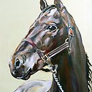 Horse study in oils by Arzeian