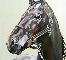 Horse study in oils by Arzeian