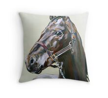 Horse study in oils Throw Pillow