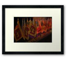 Sri Lanka Flags Framed Print