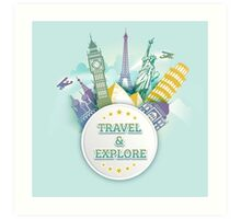 Travel & Explore Art Print