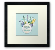 Travel & Explore Framed Print
