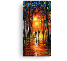 Oil paintings Lovers walking in the woods Samsung Case Canvas Print