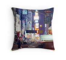 Heading downtown Throw Pillow
