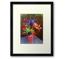 Recycled Bouquet Framed Print