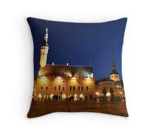 Tallinn Raekoja Plats Throw Pillow