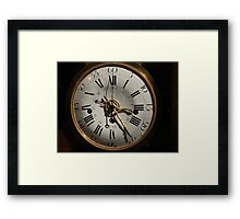 clock face Framed Print