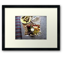 Cheese and Fruits Platter Framed Print