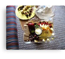 Cheese and Fruits Platter Canvas Print