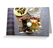 Cheese and Fruits Platter Greeting Card