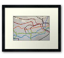 london lego underground map Framed Print