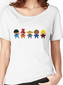 Cartoon Kid Characters Women's Relaxed Fit T-Shirt