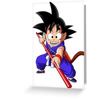 Goku Greeting Card