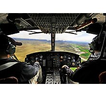 Cockpit wide angle Photographic Print