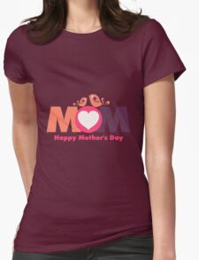 MoM Mother's Day Womens Fitted T-Shirt