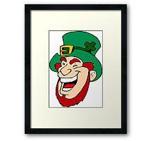 Leprechaun Laughing Framed Print