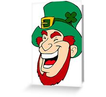 Leprechaun Laughing Greeting Card