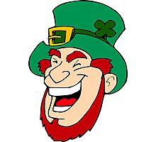 Leprechaun Laughing Photographic Print