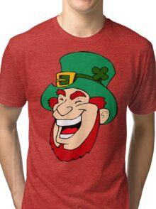 Leprechaun Laughing Tri-blend T-Shirt