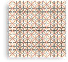 Coral Peach, Black, and White Elegant Geometric Canvas Print