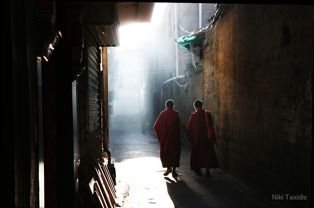 Two Hands - Lhasa, Tibet by Niki Taxidis