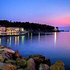 Pylos at night by StamatisGR