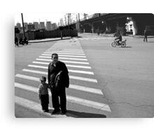 Crossing the Road Metal Print