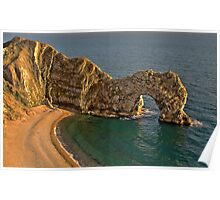 Durdle Dor - HDR - The Jurassic Coast World Heritage Site Series Poster