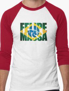 Felipe Massa - Brazilian Flag - Formula 1 Men's Baseball ¾ T-Shirt